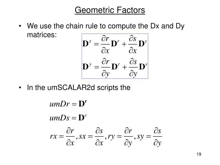 Geometric Factors
