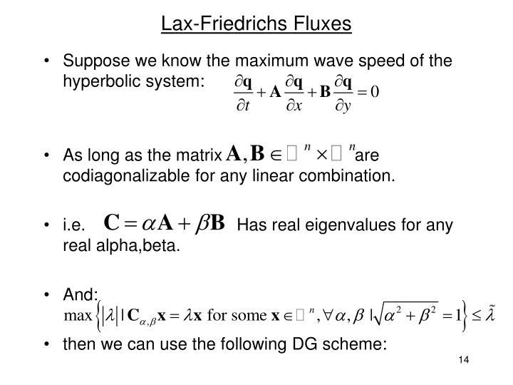 Lax-Friedrichs Fluxes