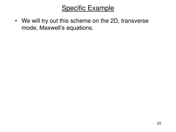 Specific Example