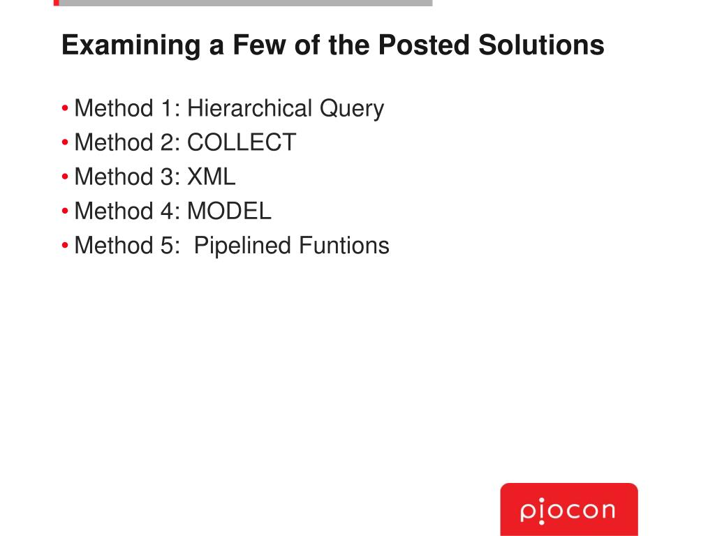 Examining a Few of the Posted Solutions