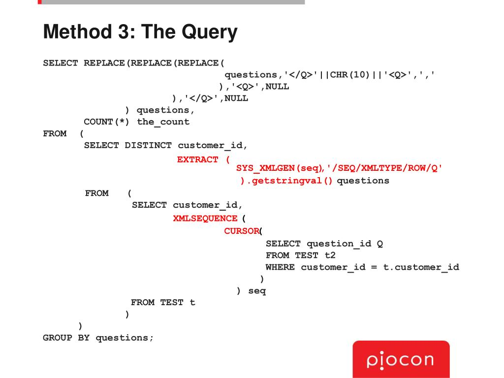 Method 3: The Query