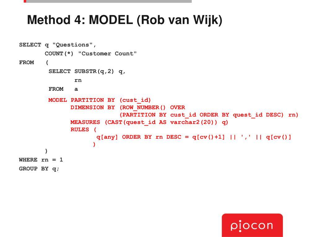 Method 4: MODEL (Rob van Wijk)
