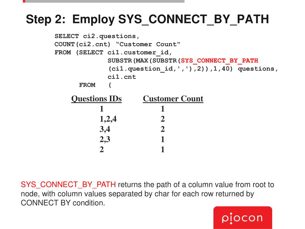 Step 2:  Employ SYS_CONNECT_BY_PATH