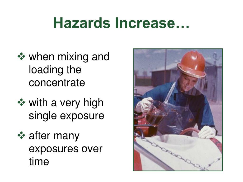 Hazards Increase…