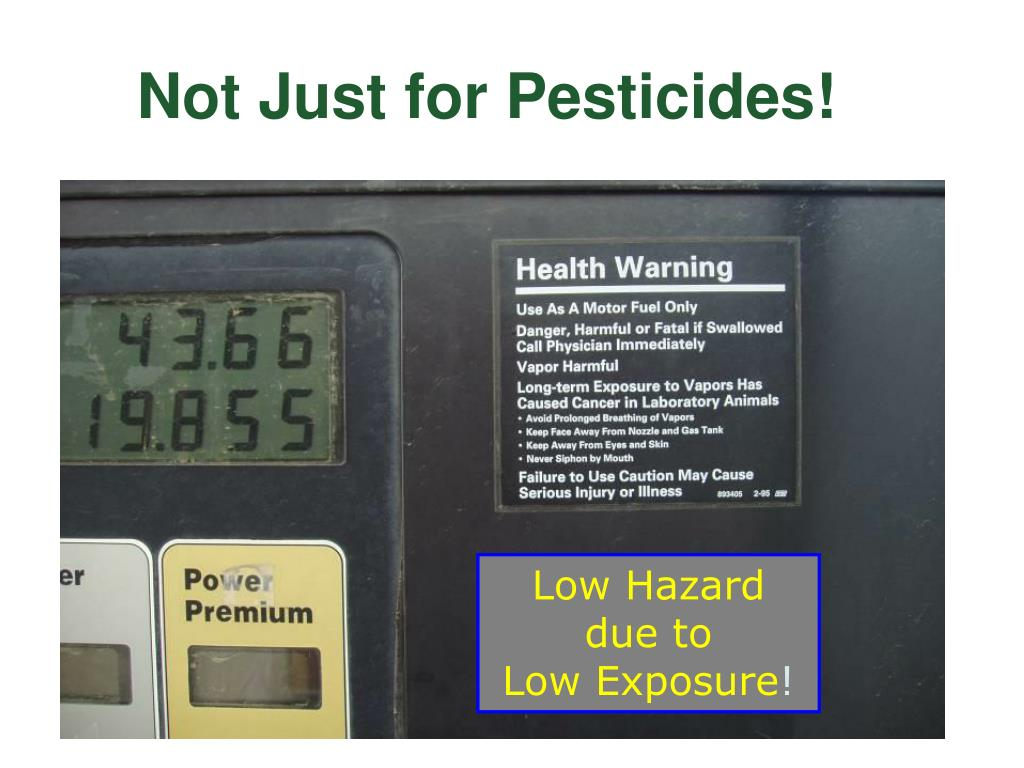Not Just for Pesticides!