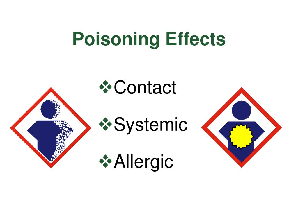 Poisoning Effects