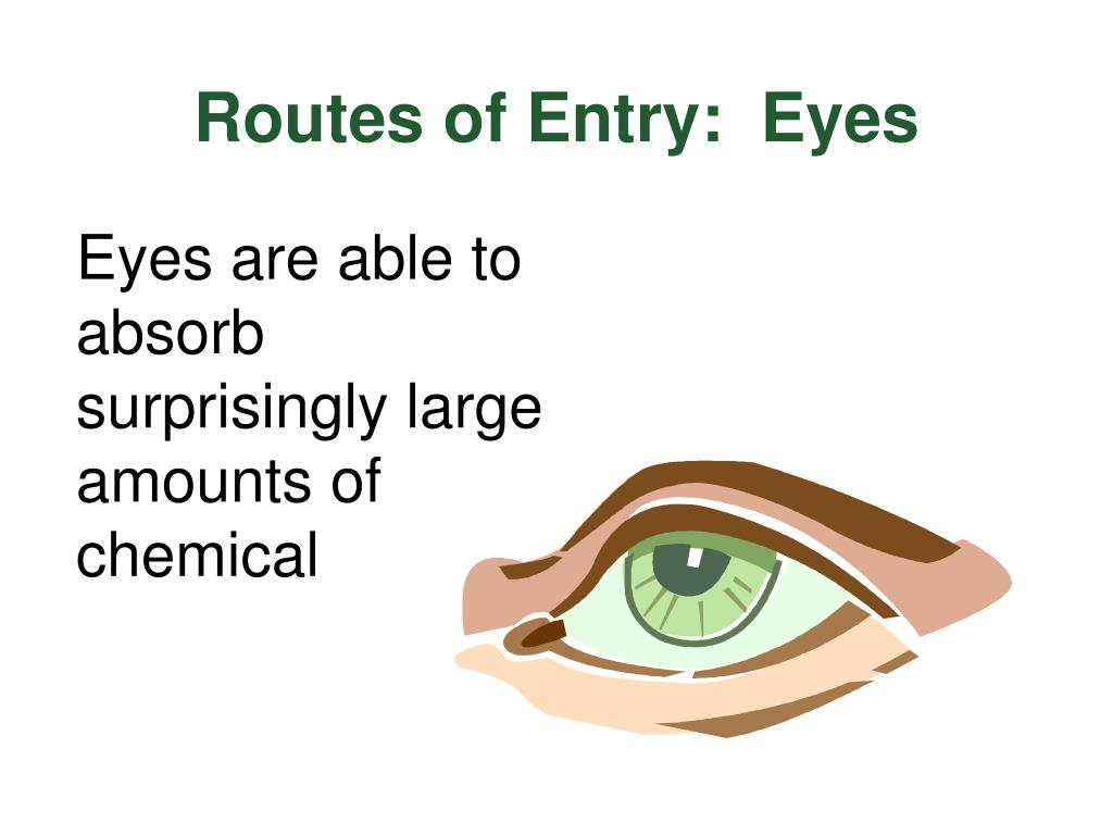 Routes of Entry:  Eyes