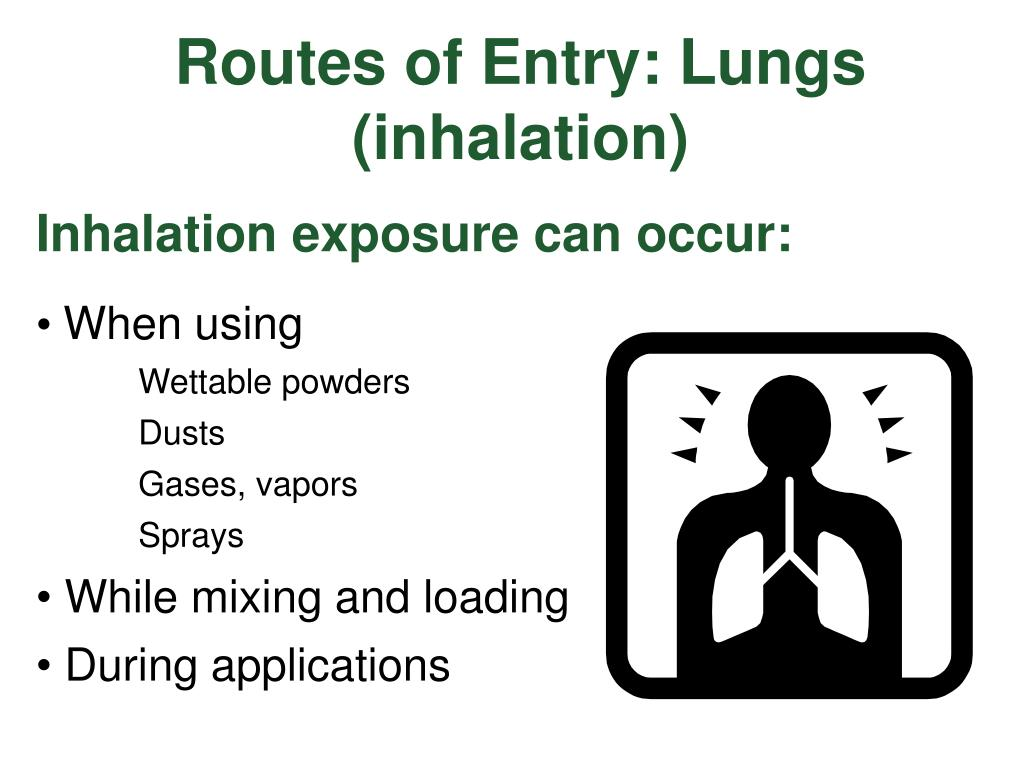 Routes of Entry: Lungs (inhalation)