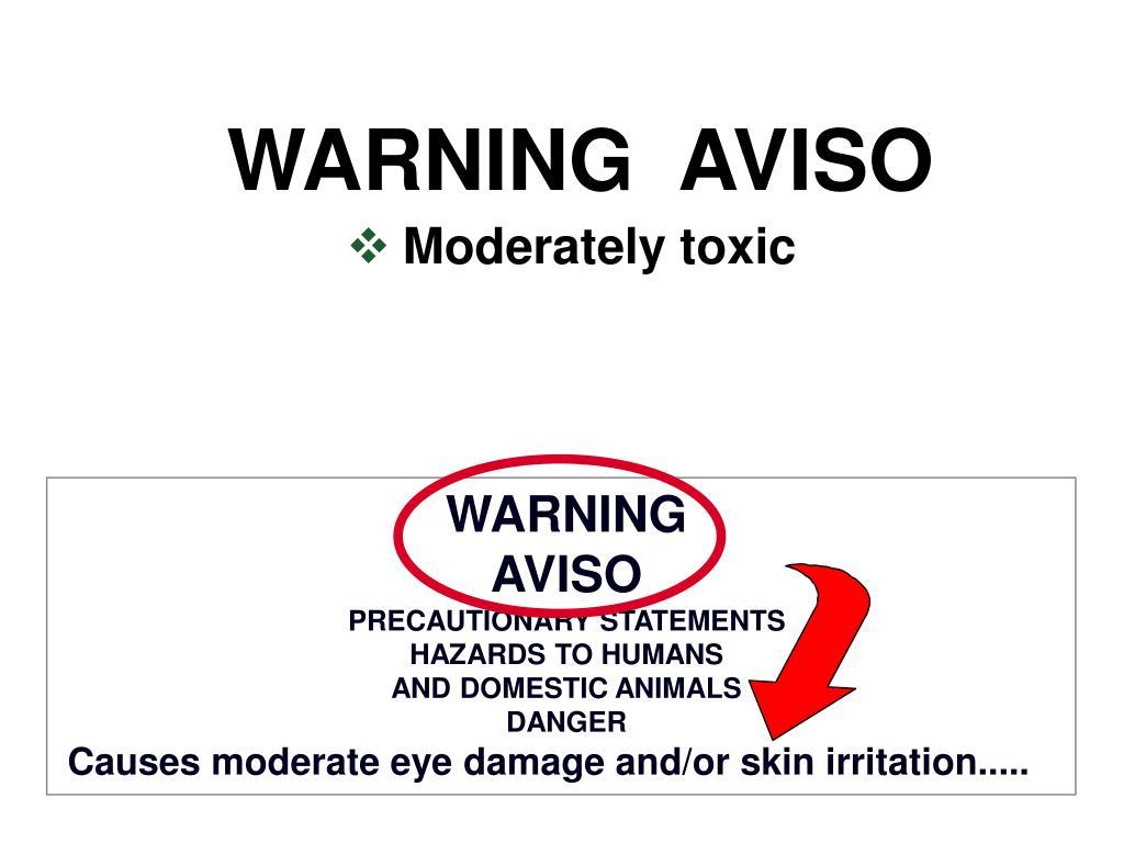 WARNING  AVISO