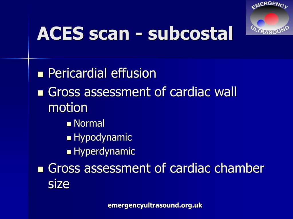 ACES scan - subcostal