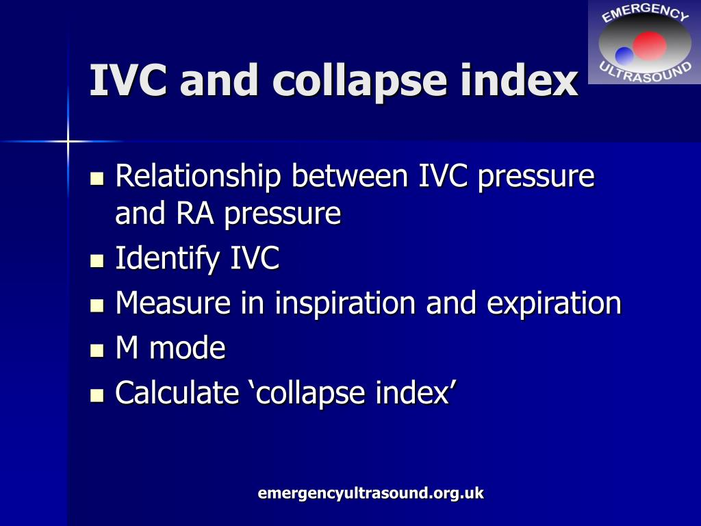 IVC and collapse index