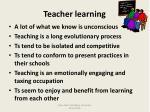 teacher learning