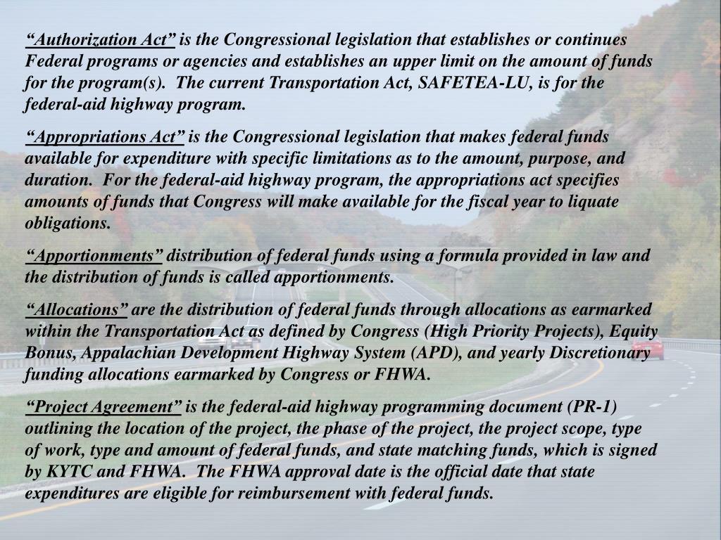 """""""Authorization Act"""""""