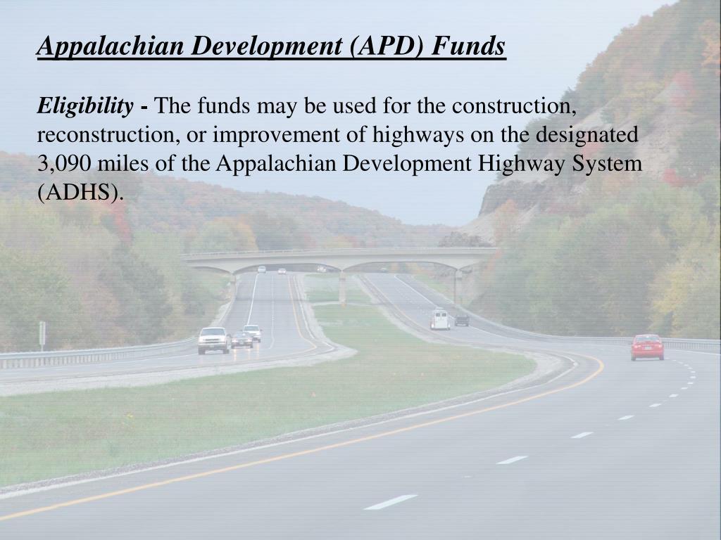 Appalachian Development (APD) Funds
