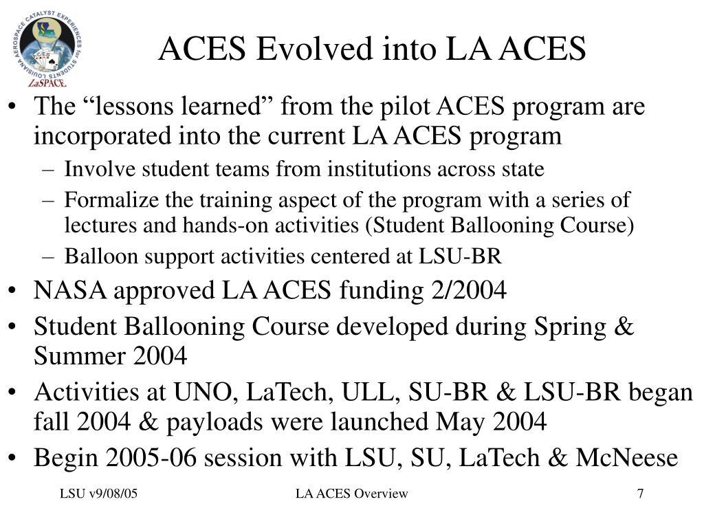 ACES Evolved into LA ACES
