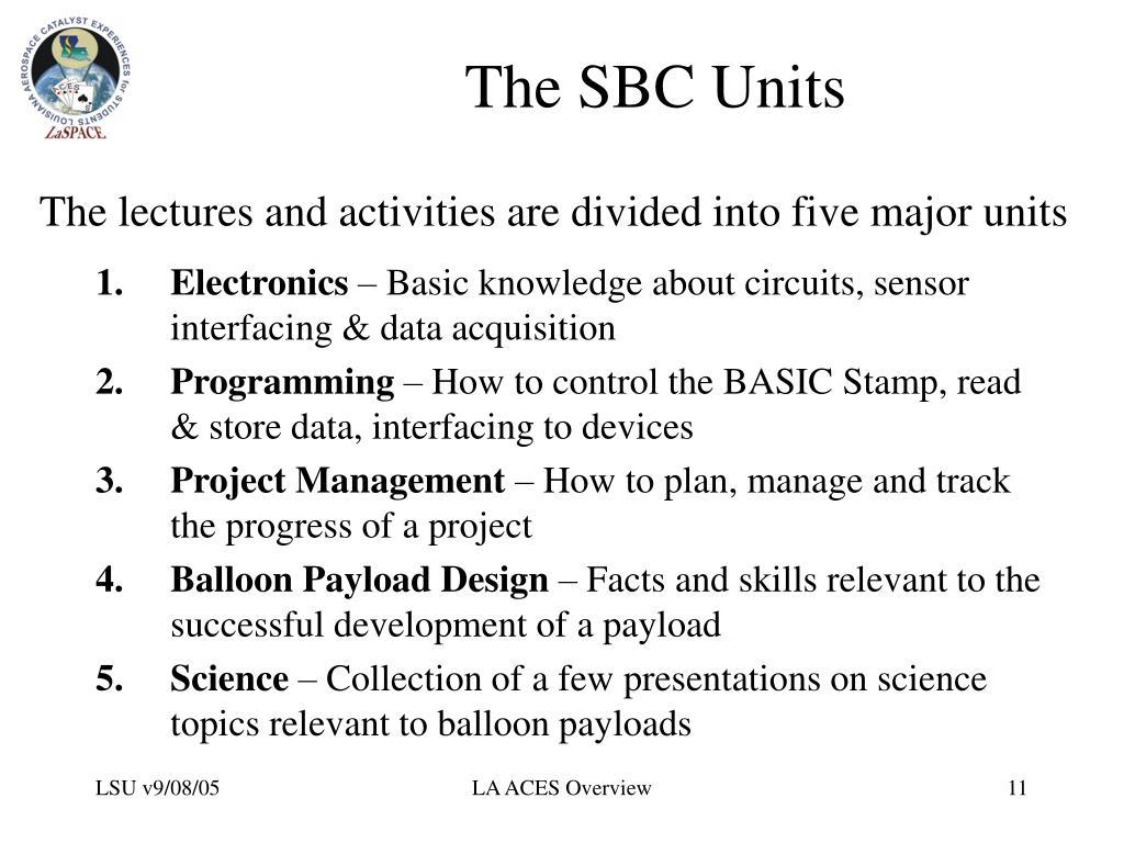 The SBC Units