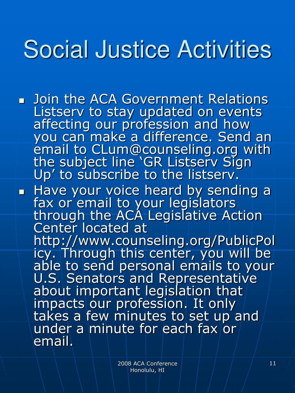 Social Justice Activities