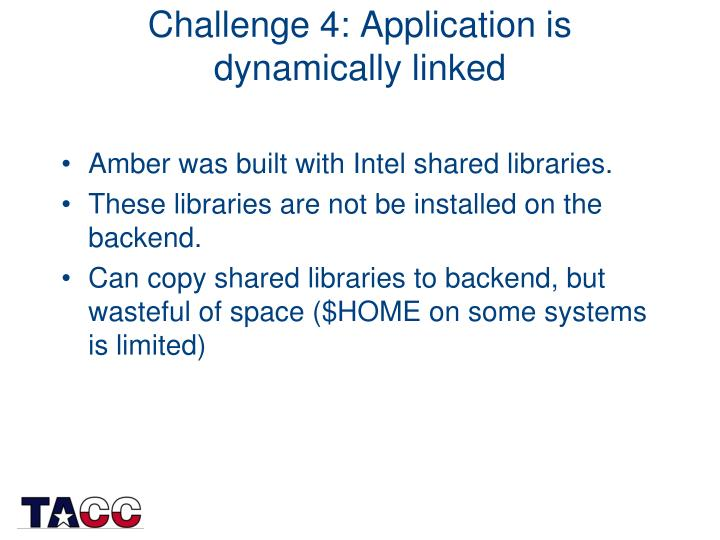Challenge 4: Application is dynamically linked