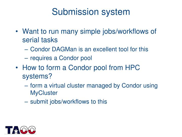 Submission system