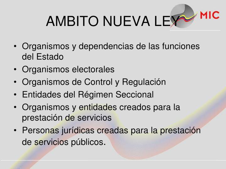 AMBITO NUEVA LEY