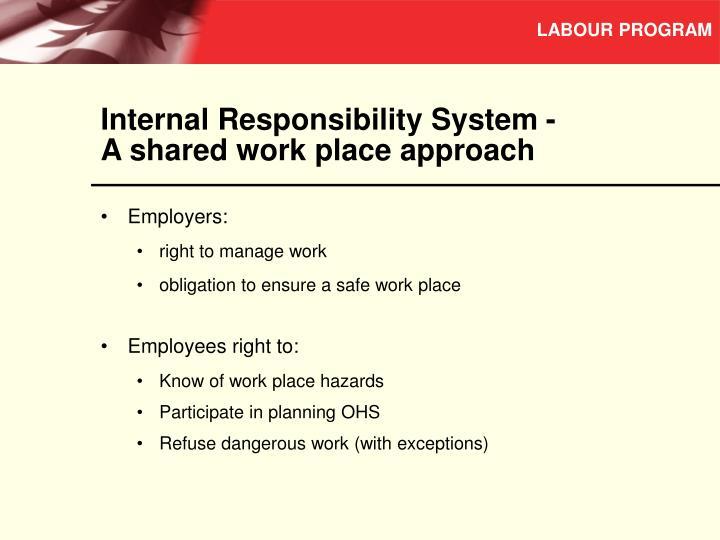 Internal Responsibility System -