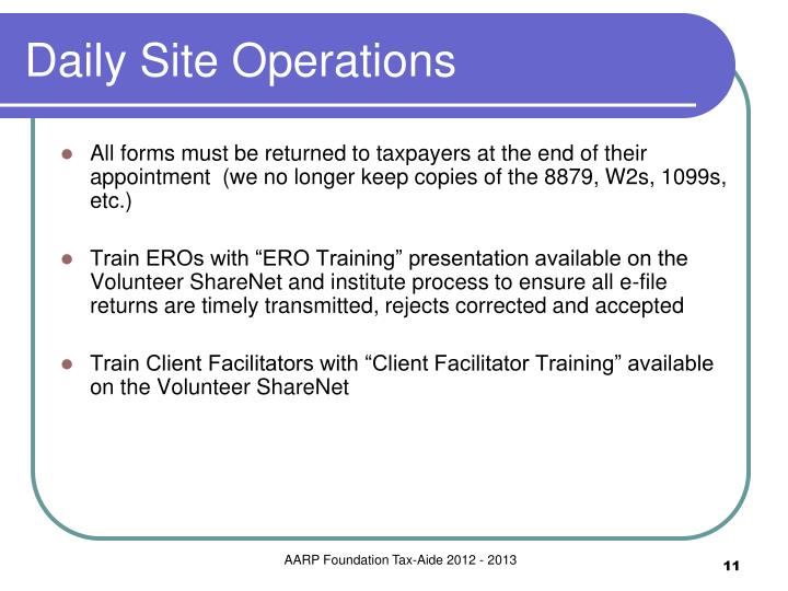 Daily Site Operations