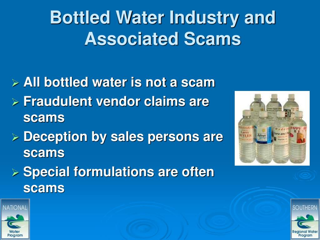 Bottled Water Industry and Associated Scams