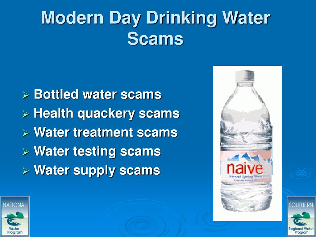 Modern Day Drinking Water Scams