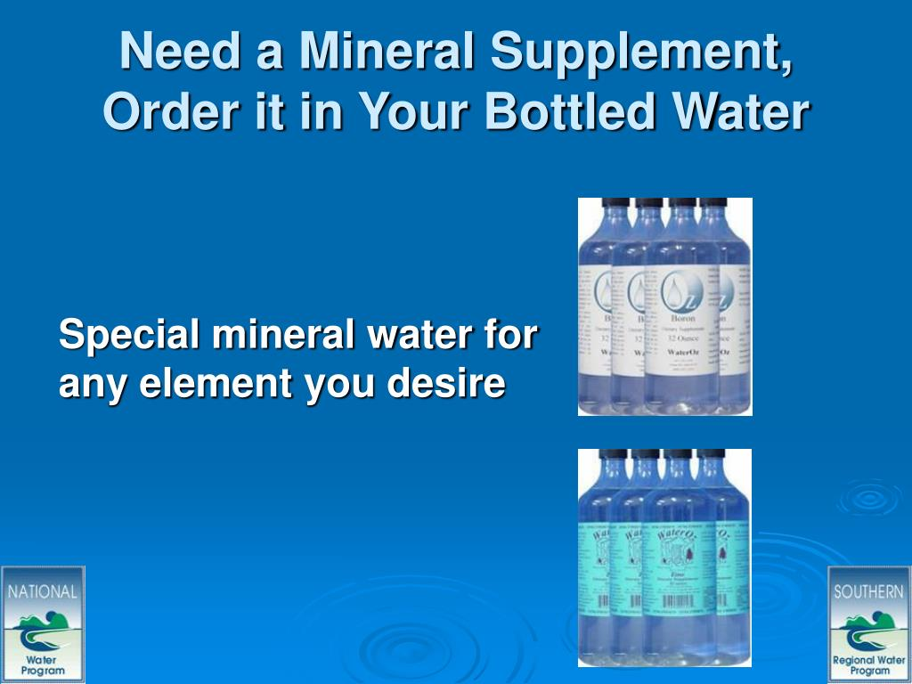 Need a Mineral Supplement, Order it in Your Bottled Water