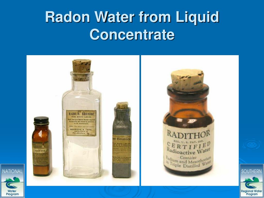 Radon Water from Liquid Concentrate