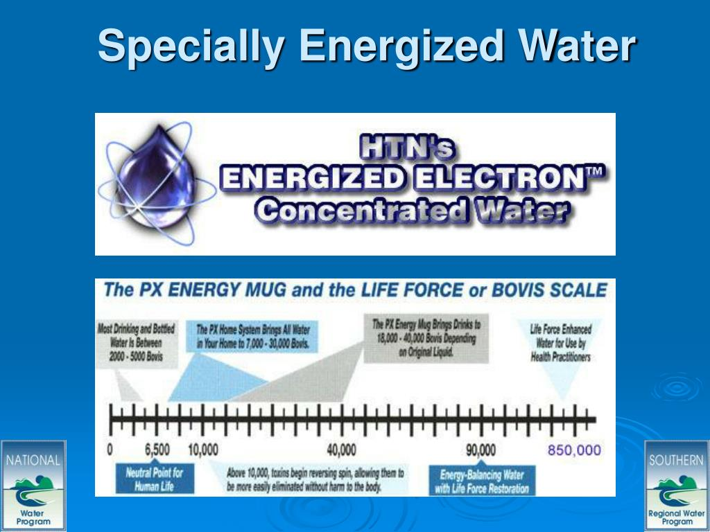Specially Energized Water