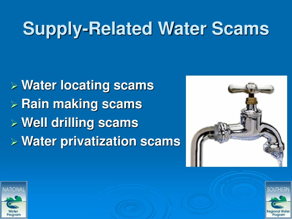 Supply-Related Water Scams