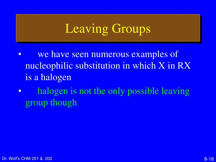 Leaving Groups