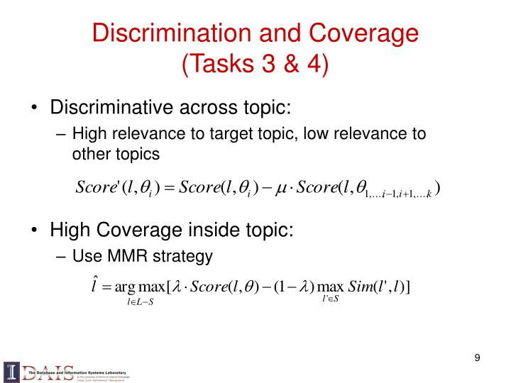 Discrimination and Coverage