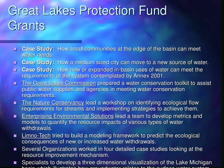 Great Lakes Protection Fund Grants