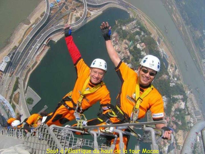 Saut à l'élastique du haut de la tour Macao