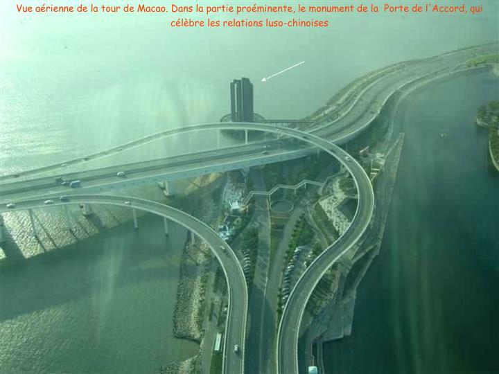 Vue aérienne de la tour de Macao.