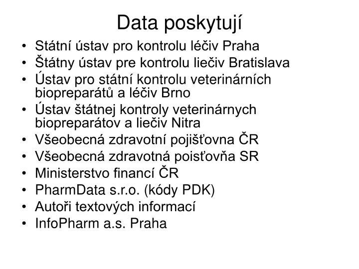 Data poskytují