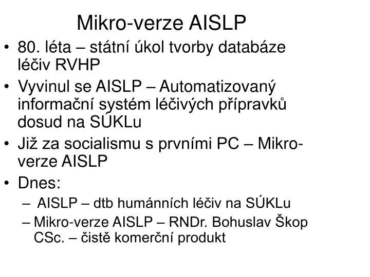 Mikro-verze AISLP