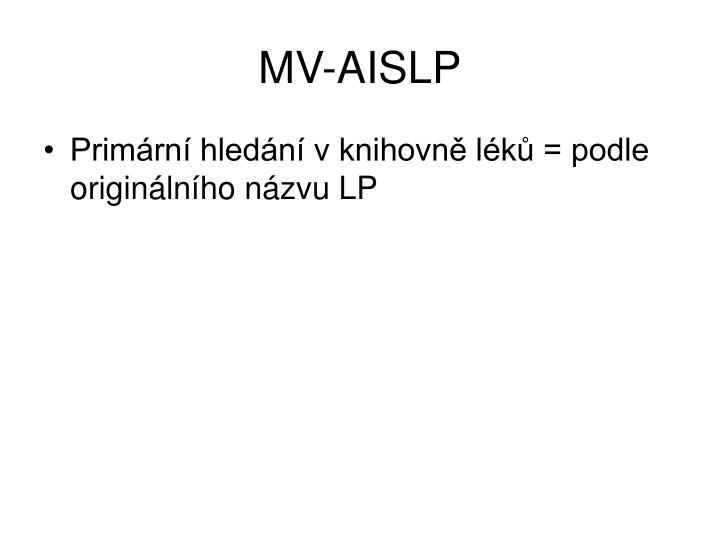 MV-AISLP
