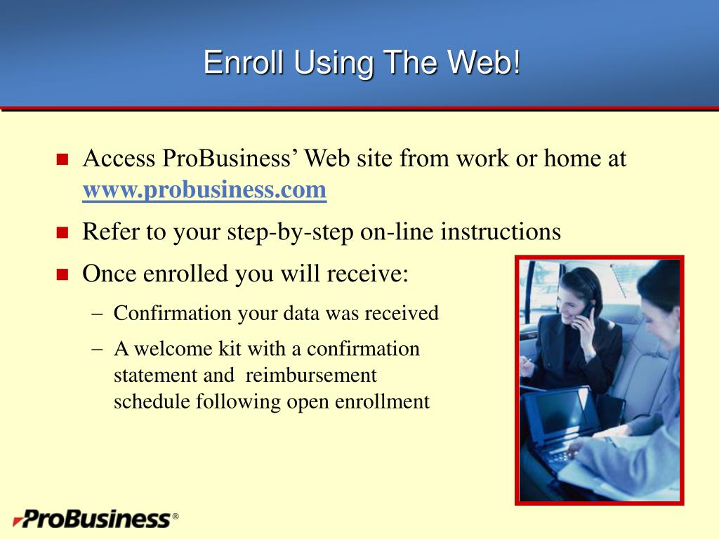 Enroll Using The Web!