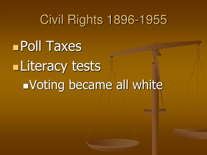 Civil Rights 1896-1955