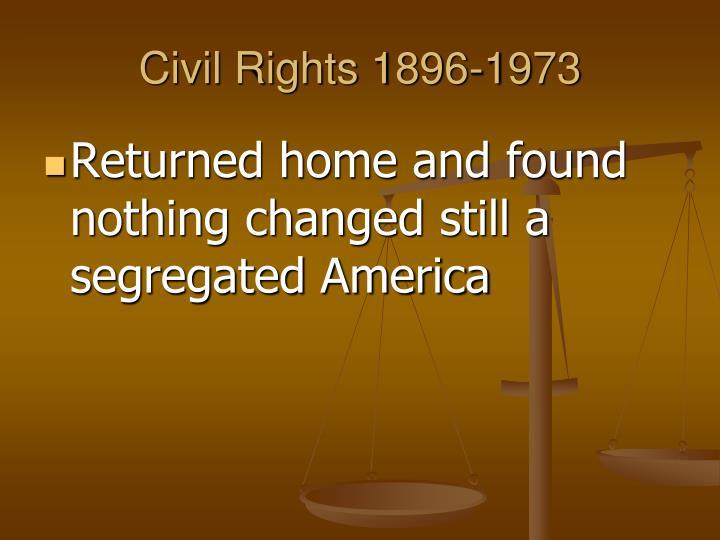 Civil Rights 1896-1973