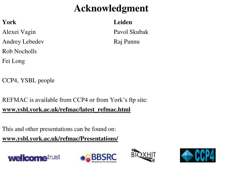 Acknowledgment