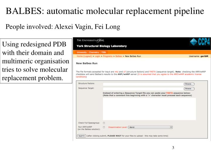 Balbes automatic molecular replacement pipeline