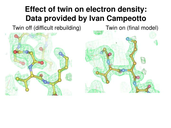 Effect of twin on electron density: