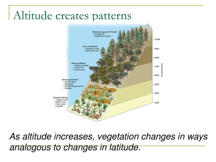 Altitude creates patterns