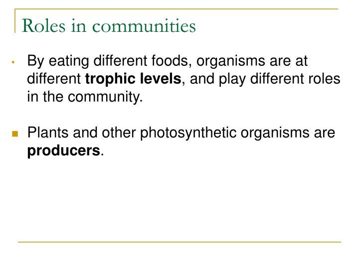 Roles in communities