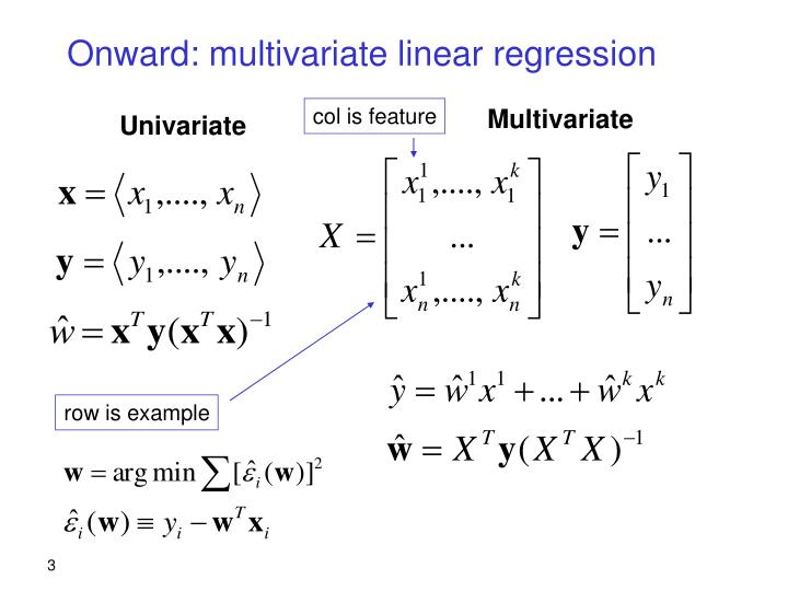 Onward: multivariate linear regression