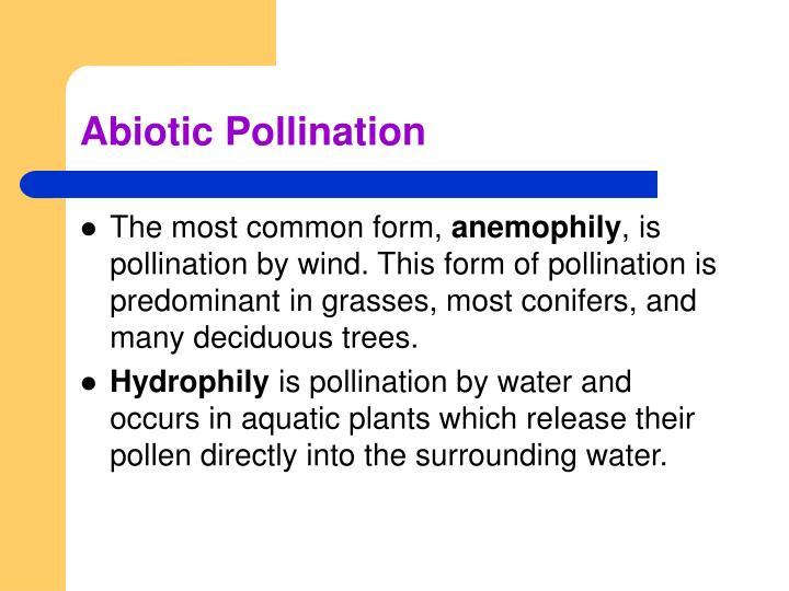 Abiotic Pollination